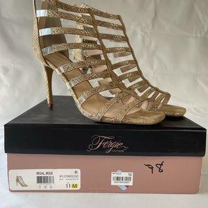 Fergie Snakeskin Sandals New